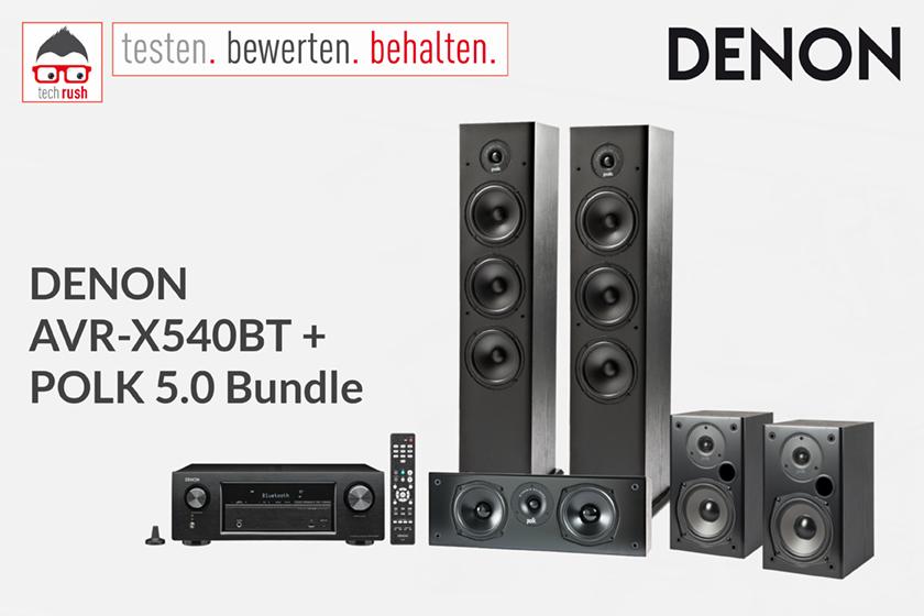 Produkttest Denon AVR-X540BT + POLK 5.0