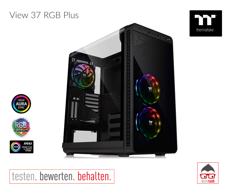 Produkttest Thermaltake View 37 RGB Plus PC-Gehäuse
