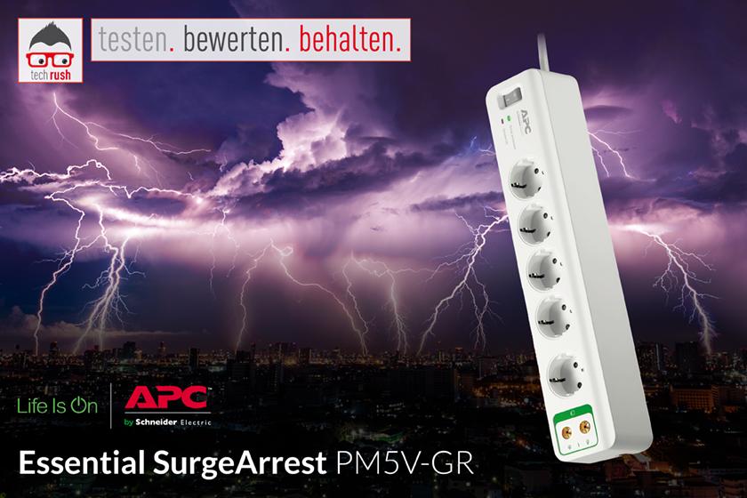 Produkttest APC Essential SurgeArrest PM5V-GR Steckdosenleiste
