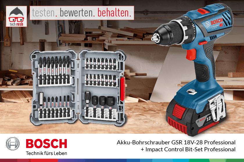 Produkttest Bosch Akku-Bohrschreiber GSR 18V-28 Professional