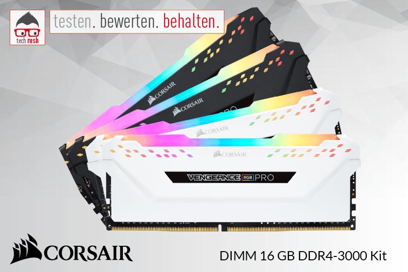 Produkttest Corsair DIMM 16 GB DDR4-3000 Arbeitsspeicher
