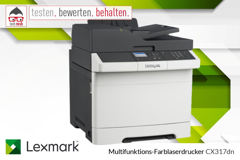 Produkttest Lexmark Multifunktions-Farblaserdrucker CX317dn