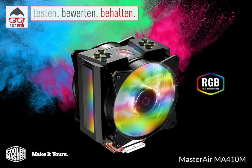 Produkttest Cooler Master MasterAir MA410M RGB CPU-Kühler