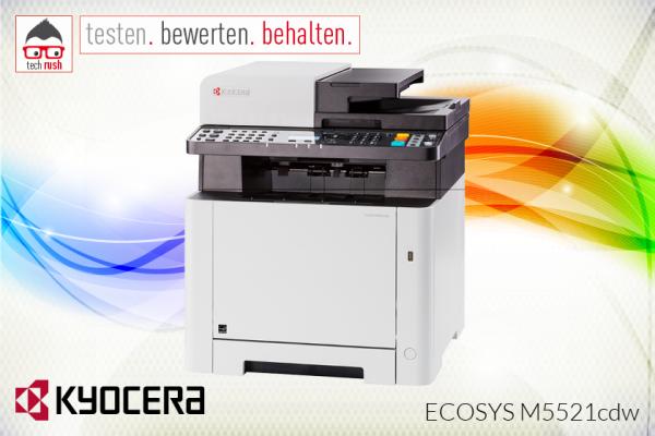 Produkttest Kyocera ECOSYS M5521CDW Multifunktionsdrucker