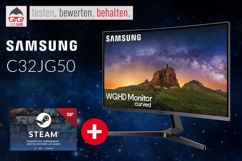 Produkttest Samsung C32JG50 LED-Monitor