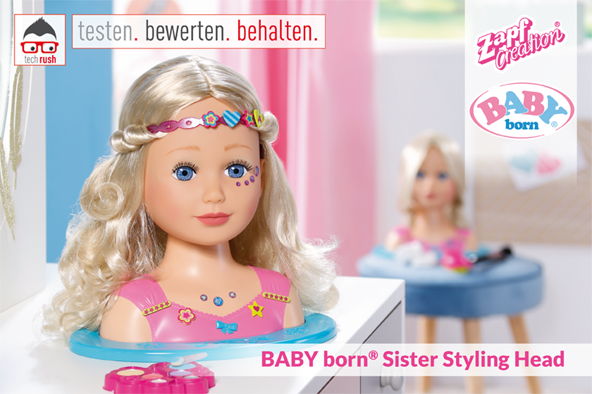 Produkttest ZAPF Creation BABY born® Sister Styling Head
