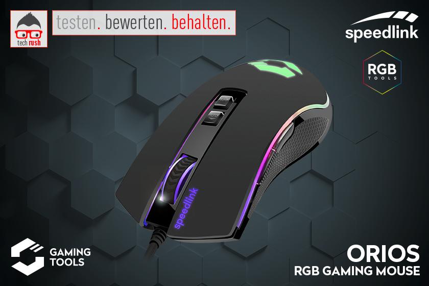 Produkttest Speedlink ORIOS RGB Gaming Maus