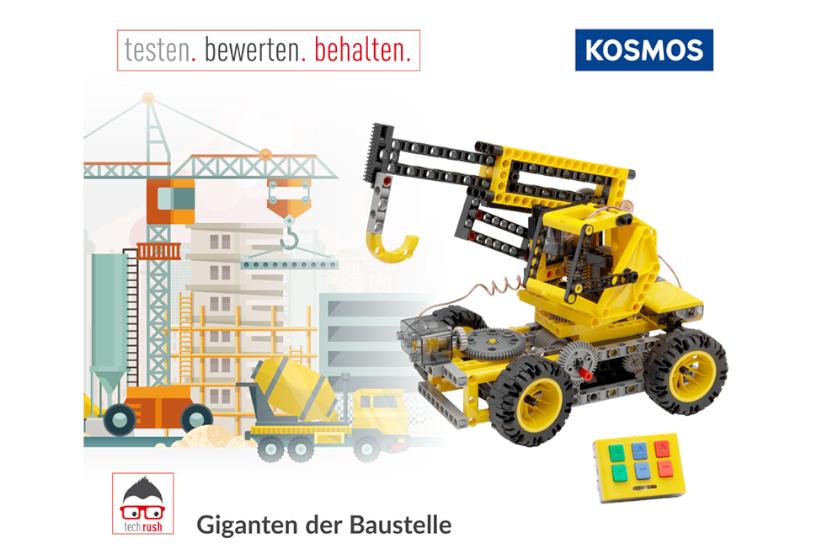Produkttest KOSMOS Giganten der Baustelle, Experimentierkasten