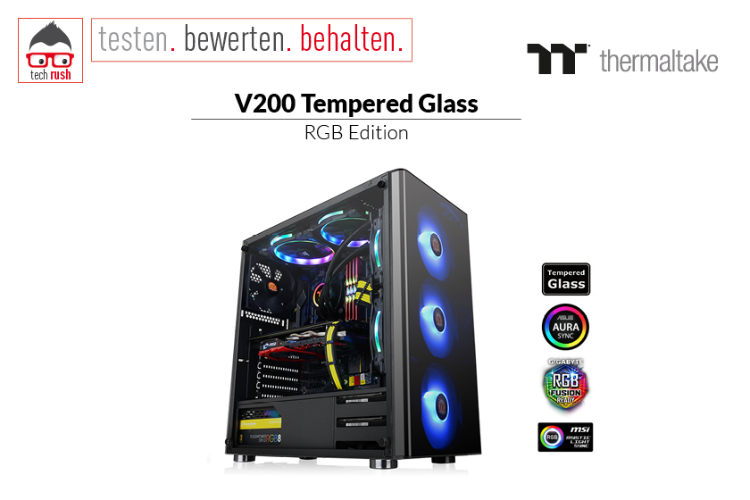 Produkttest Thermaltake V200 TG RGB Tower-Gehäuse