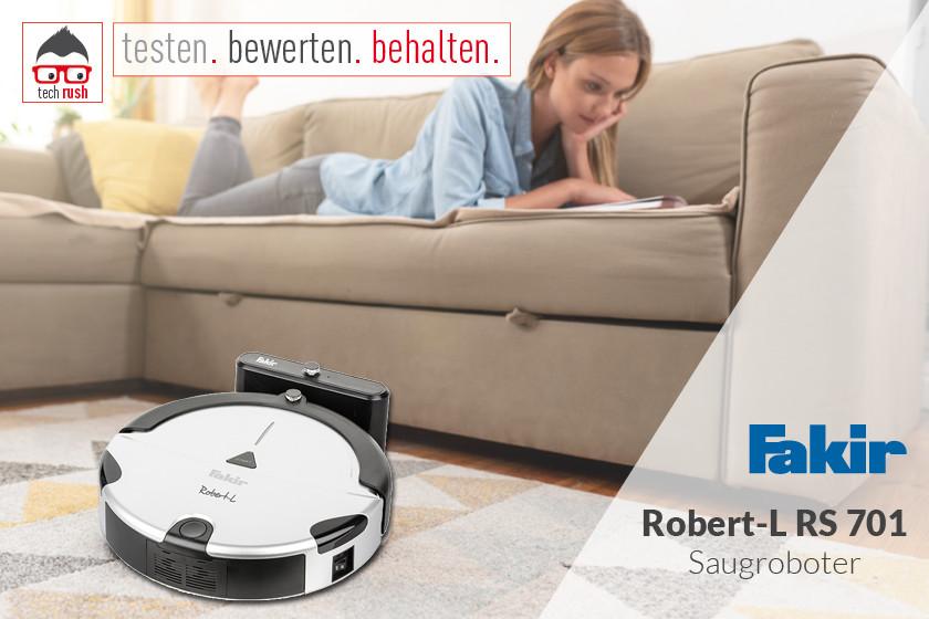 Produkttest  Faki Saugroboter Robert-L RS 701