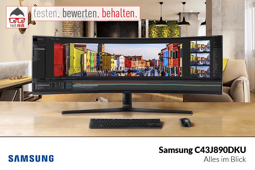 Produkttest Samsung C43J890DKU, LED-Monitor