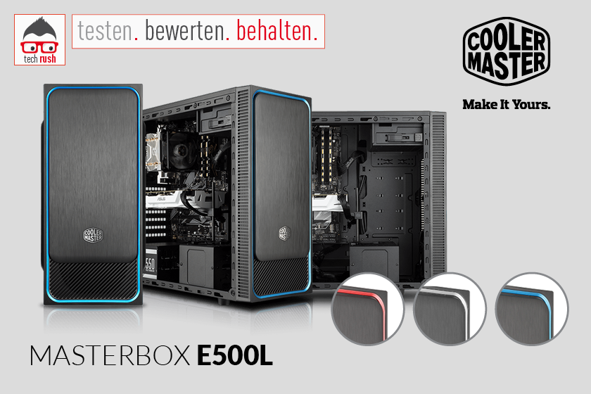 Produkttest Cooler Master MasterBox E500L, Tower-Gehäuse