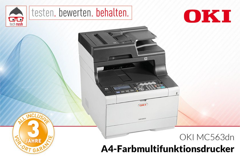 Produkttest OKI MC563dn, Multifunktionsdrucker