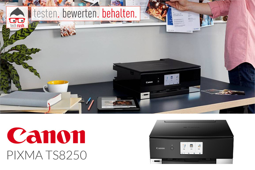 Produkttest Canon PIXMA TS8250, Multifunktionsdrucker