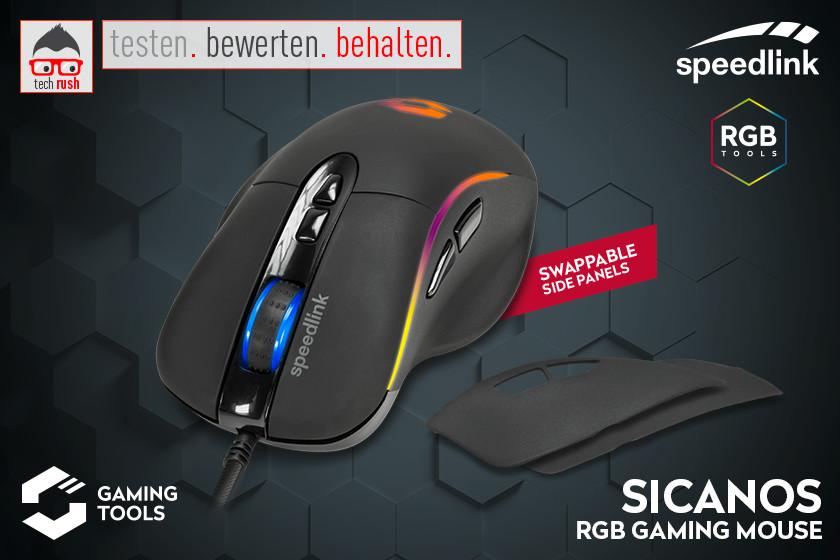 Produkttest Speedlink SICANOS RGB, Gaming-Maus