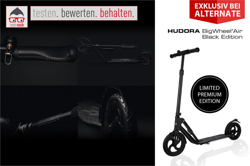 Produkttest: HUDORA BigWheel Air Limited Black Edition, Scooter