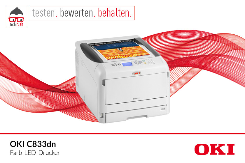 Produkttest OKI C833dn, LED-Drucker