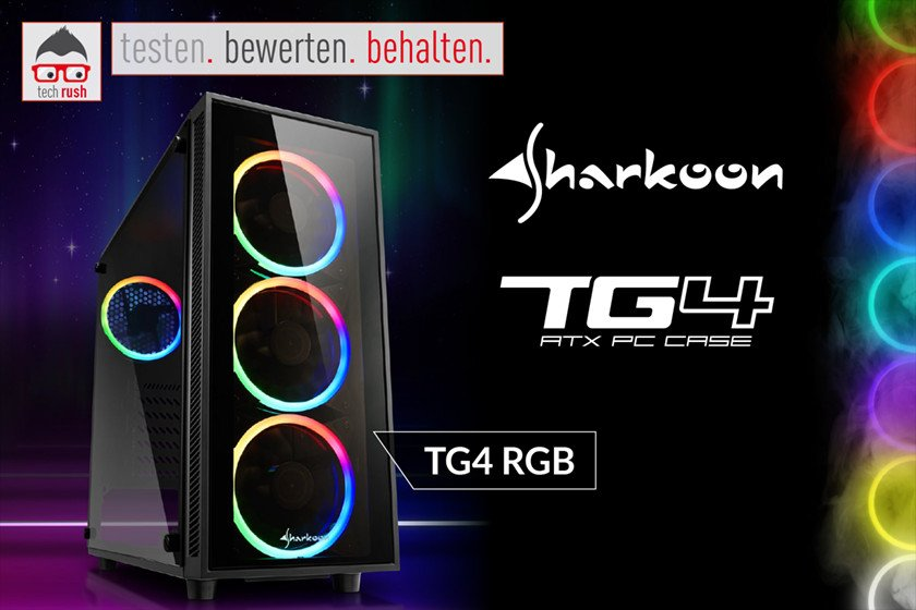 Produkttest Sharkoon TG4 RGB, Tower-Gehäuse