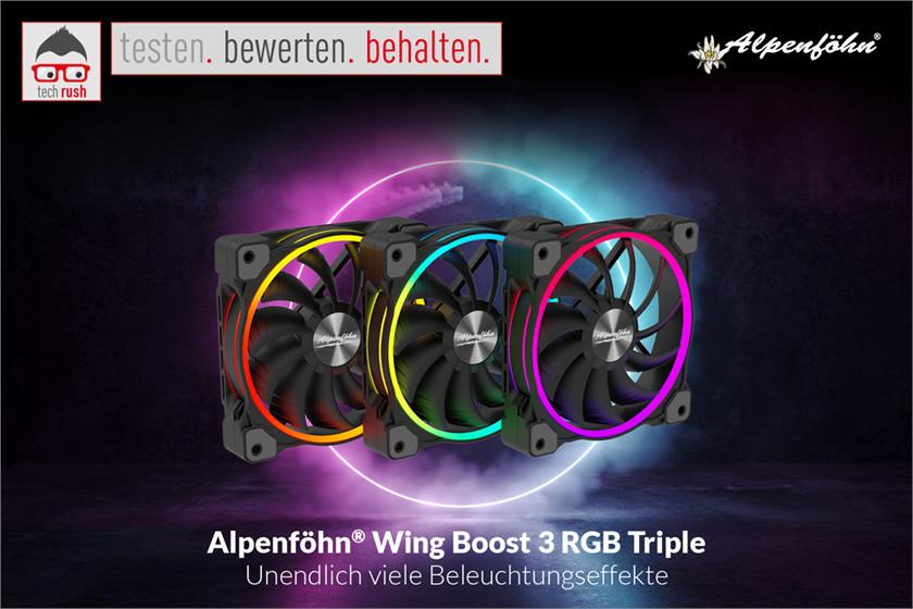 Produkttest Alpenföhn Wing Boost 3 120x120x25, Gehäuselüfter