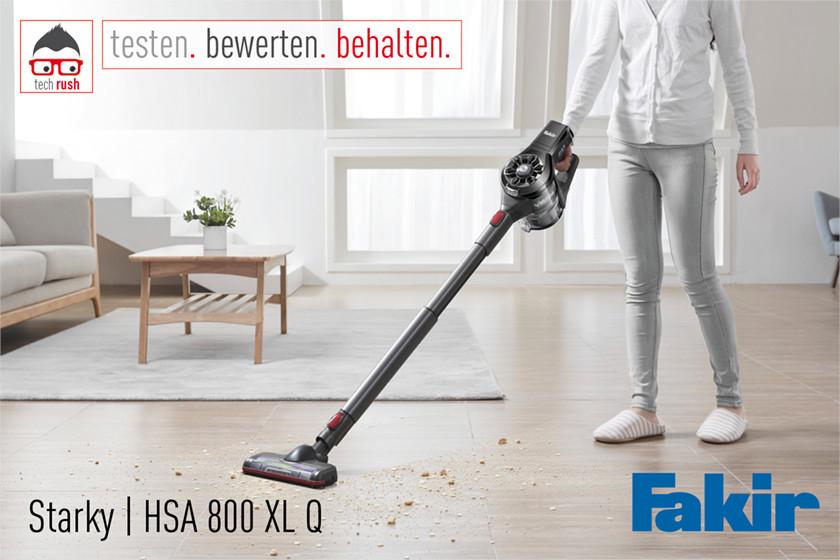 Produkttest Fakir Akku Hand- und Stiel-Staubsauger Starky