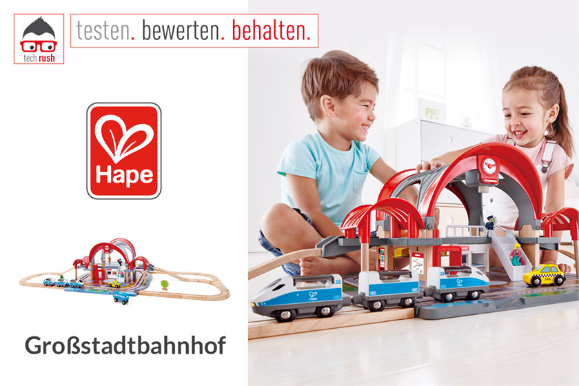 Produkttest Hape Großstadtbahnhof, Konstruktionsspielzeug