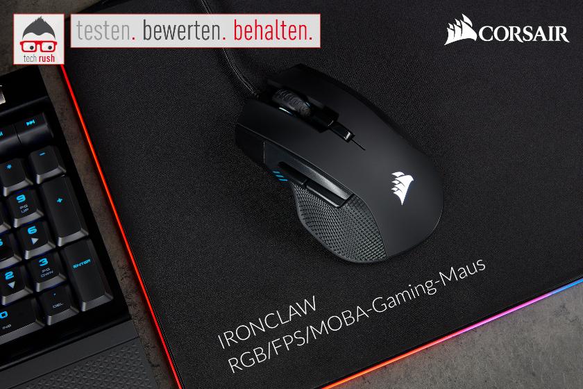 Produkttest Corsair Ironclaw RGB, Maus