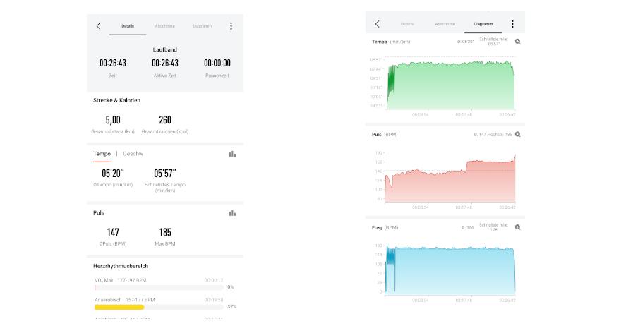 Xiaomi Amazfit Verge Test Sportprogramme