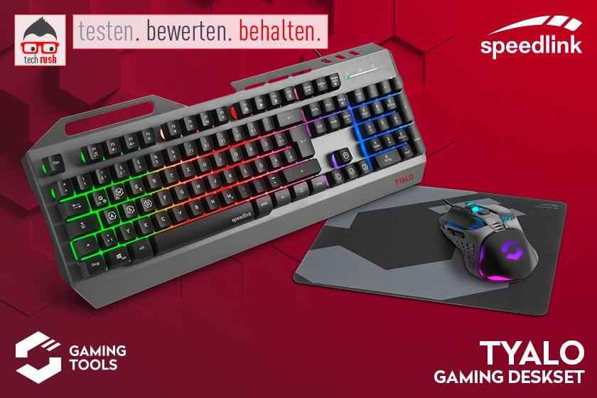 Produkttest Speedlink TYALO Illuminated Gaming Deskset