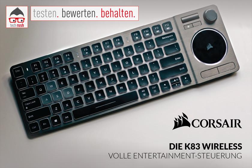 Produkttest Corsair K83 Wireless, Tastatur