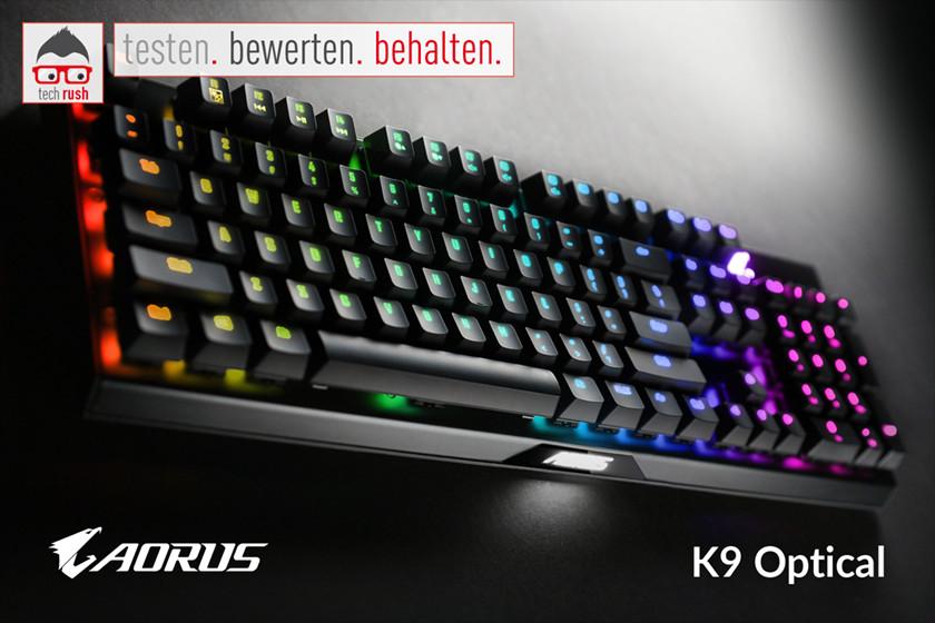Produkttest  GIGABYTE AORUS K9 Optical, Tastatur