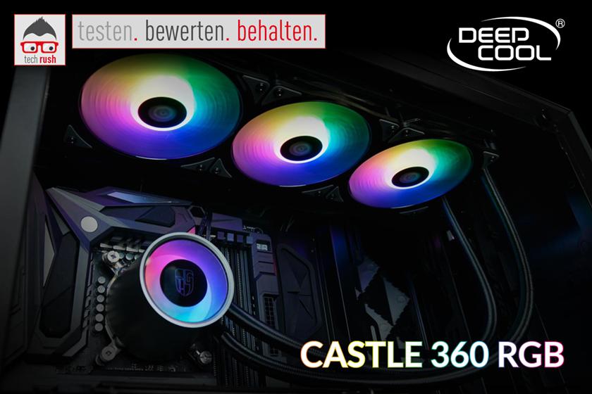 Produkttest Deepcool Castle 360 RGB, Wasserkühlung