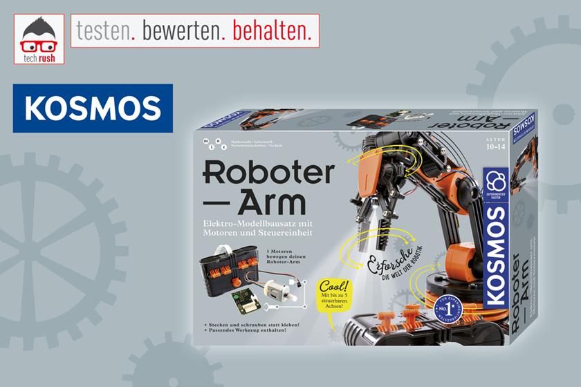 Produkttest Roboter-Arm, Experimentierkasten