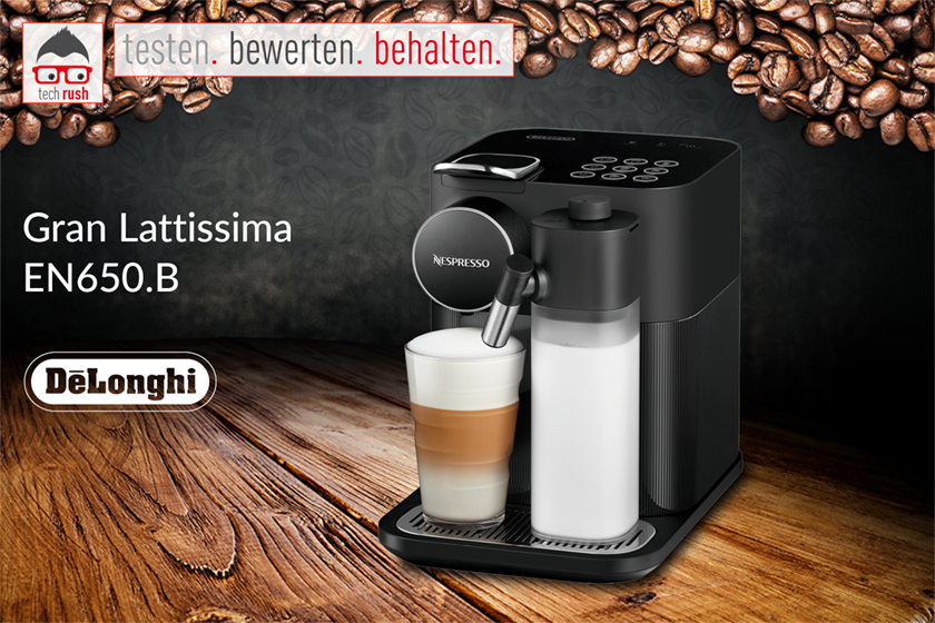 Produkttest DeLonghi Nespresso Gran Lattissima EN 650.B, Kapselmaschine