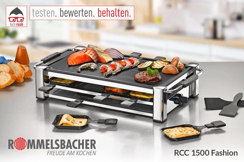 Produkttest Rommelsbacher Gourmet Raclette Fashion RCC 1500