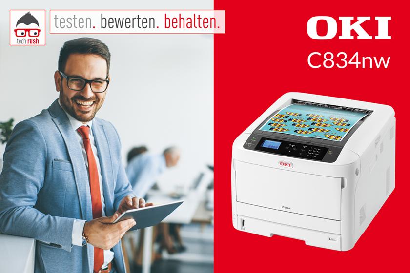 Produkttest OKI C834nw, LED-Drucker
