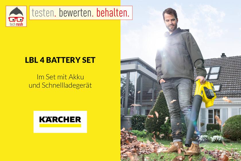 Produkttest Kärcher Akku-Laubgebläse LBL 4 Battery Set, 36Volt