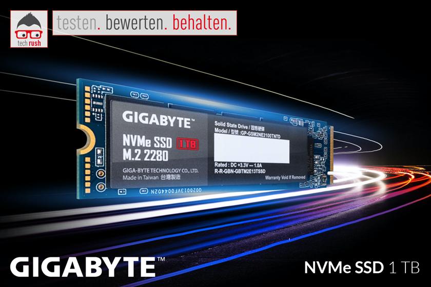 Produkttest GIGABYTE NVMe SSD 1 TB