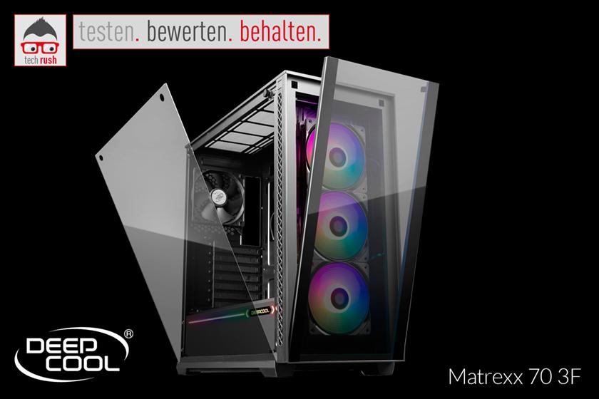 Produkttest Deepcool Matrexx 70 3F, Tower-Gehäuse
