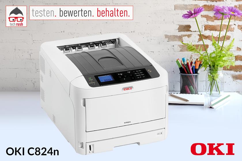 Produkttest OKI C824n, LED-Drucker