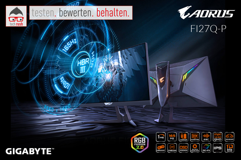 Produkttest GIGABYTE AORUS FI27Q-P, LED-Monitor