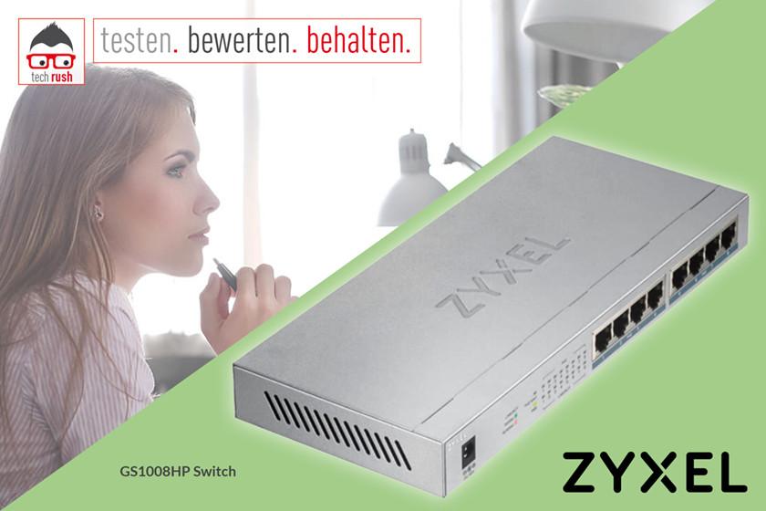 Produkttest Zyxel GS1008HP, Switch
