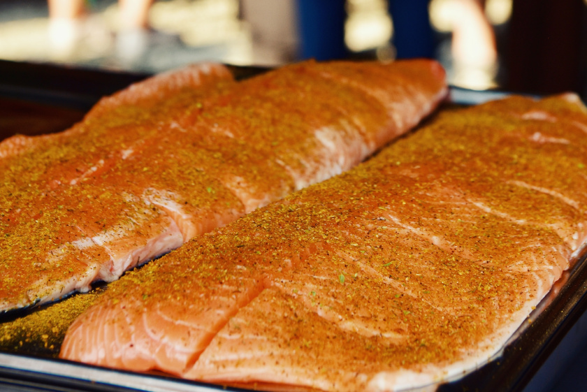 Lachs, Räucherlachs, Flammlachs, Salmon